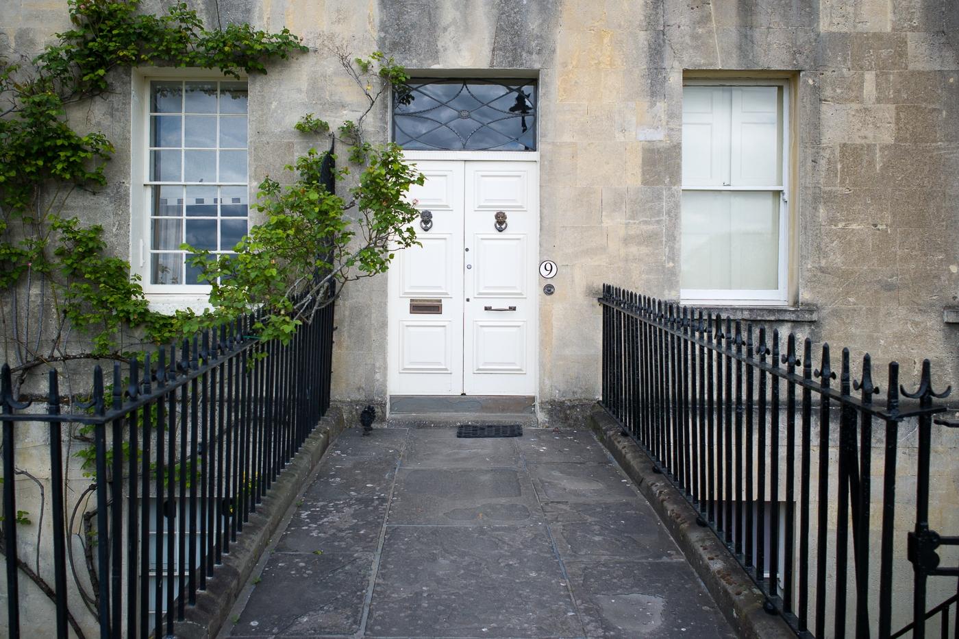 Doorway at the Royal Crescent, Bath