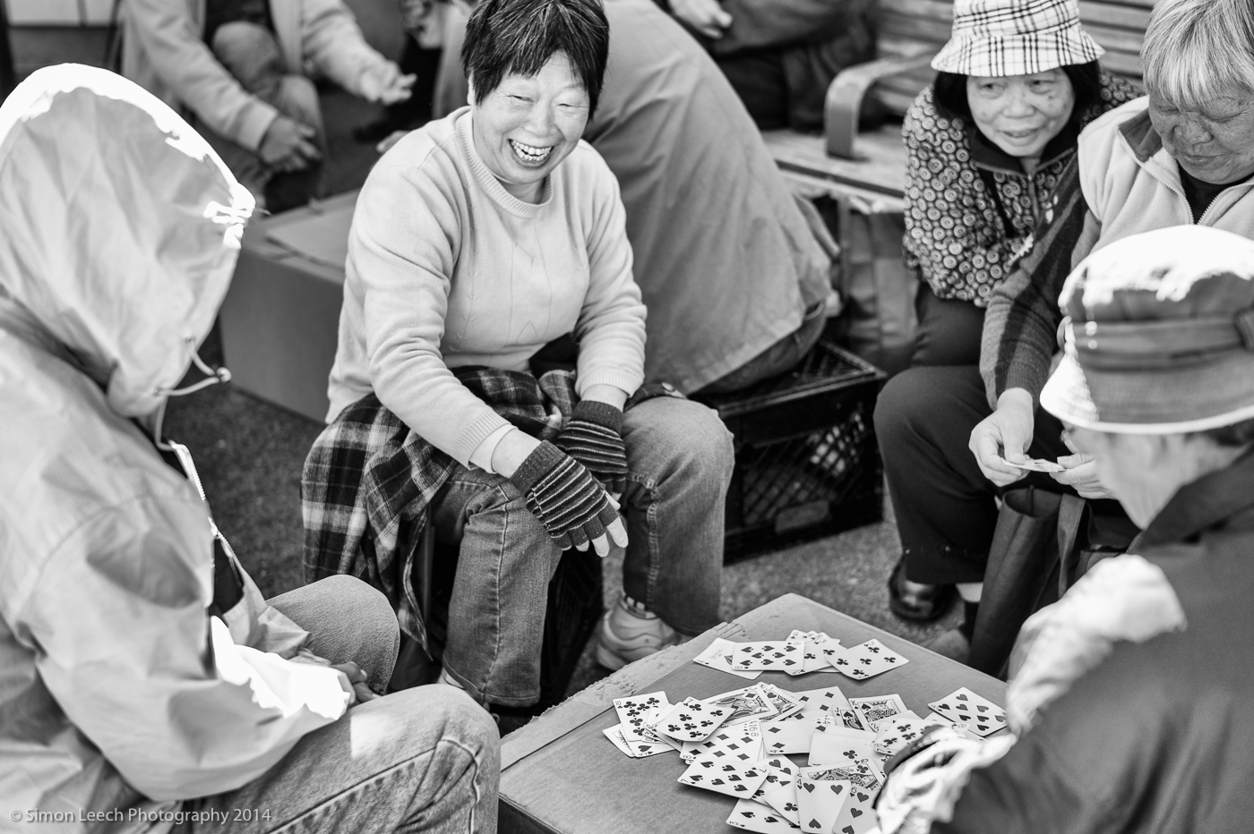Card game in Chinatown, San Francisco