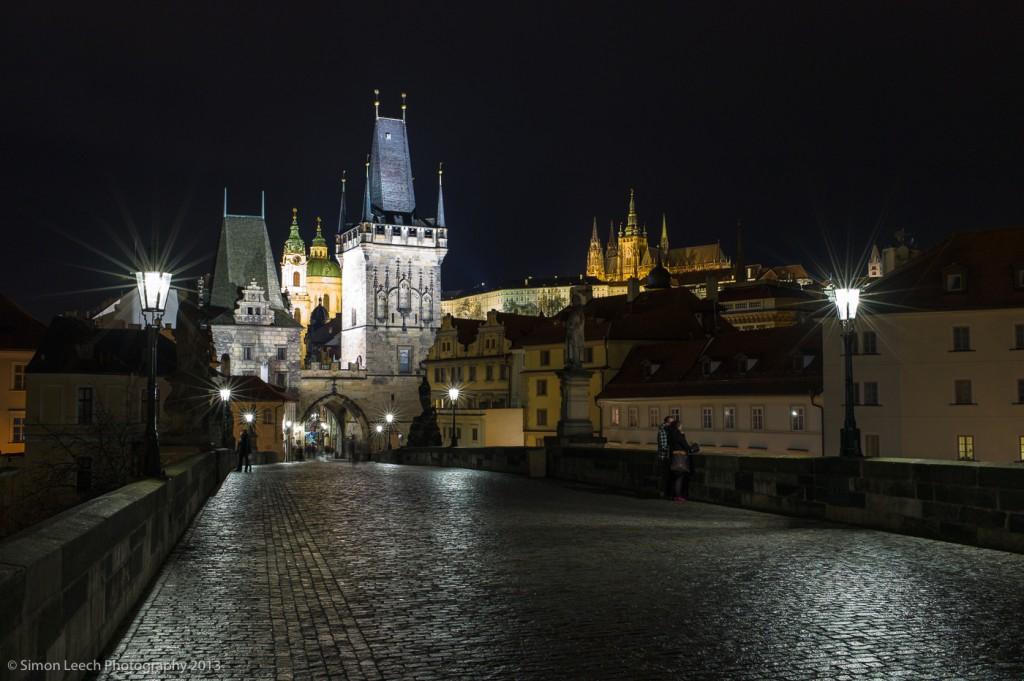 Charles Bridge, looking towards Prague Old Town