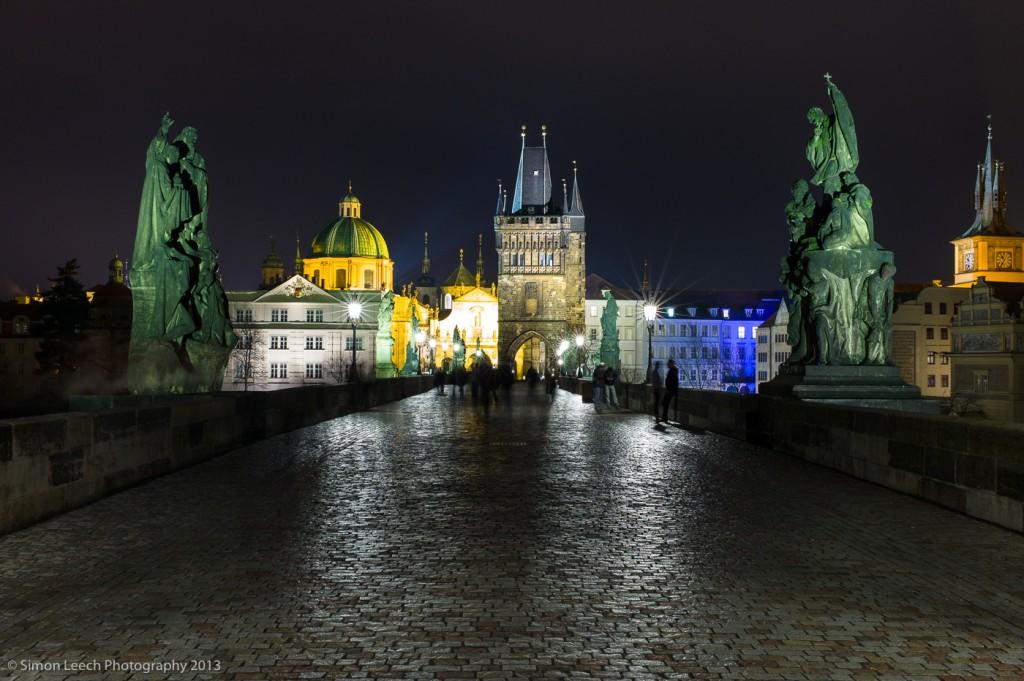 Charles Bridge, looking towards Prague Castle