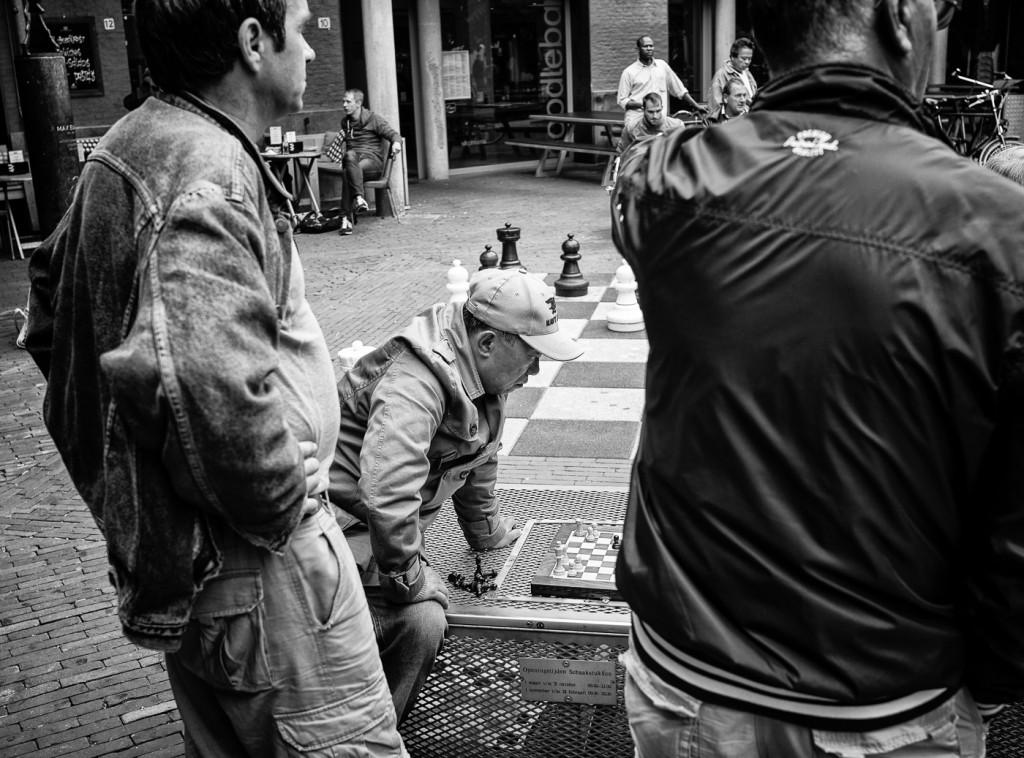 Chess on the Max Euweplein, Amsterdam
