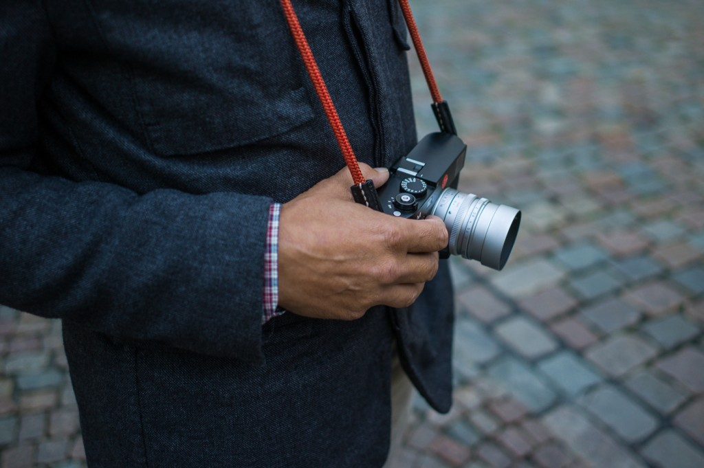 Artisan and Artist Cord Strap, being modelled by Lars on a Leica M at the recent Leica One event in Wetzlar