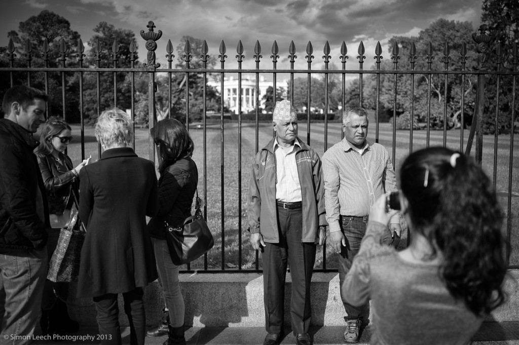 Nepalese at the Whitehouse - I was struck by the difference in reaction of the apathetic Americans on the left, and the proud foreign visitors on the right....