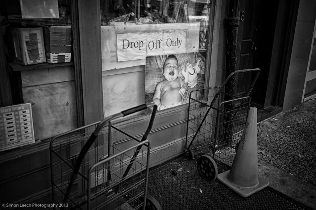 Drop off only - Seen somewhere in the East Village, New York. I waited around for a couple of minutes to see if any overweight babies would be dropped off, but I left disappointed....