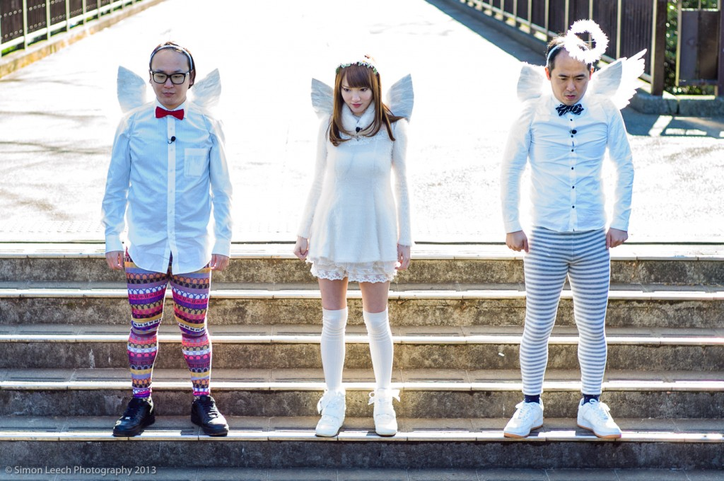 Angels on a Bridge. Because sometimes you just have to dress up as an angel. And stand on a bridge.